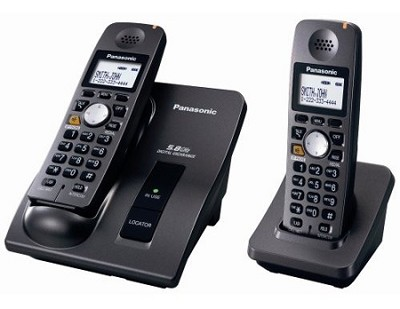 KX-TG6022B 5.8 GHz Cordless Telephone with 2 Handsets