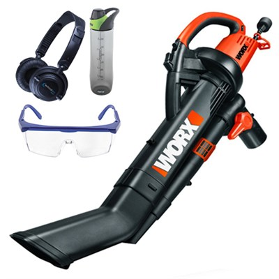 TRIVAC Electric Blower/Mulcher/Vacuum w/ Safety Bundle