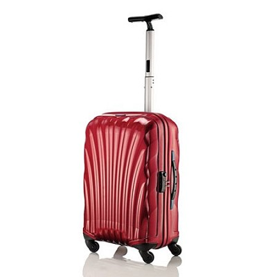 Black Label Cosmolite Hardside 20` Red Carry On Spinner Suitcase