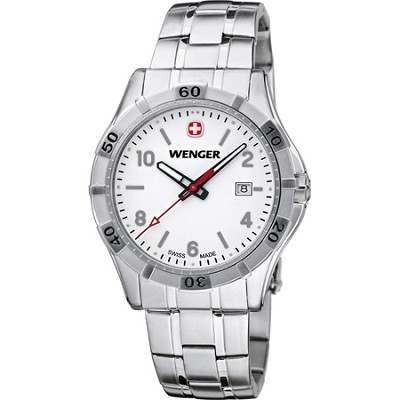Men's Platoon Analog Watch - White Dial/Stainless Steel Bracelet