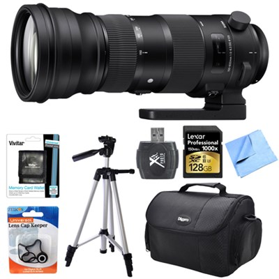 150-600mm F5-6.3 DG OS HSM Telephoto Zoom Lens (Sports) for Nikon F Mount Bundle