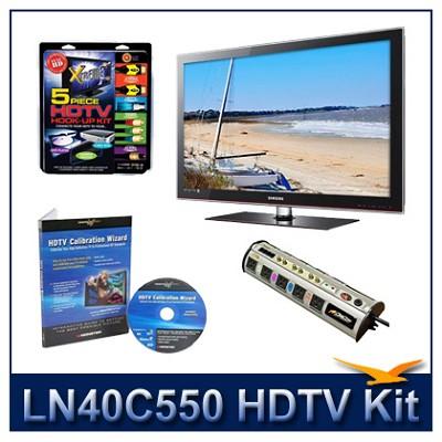LN40C550 - 40` HDTV + High-performance Hook-up Kit + Power Protection + Calibrat
