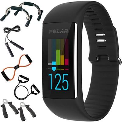 A360 Fitness Tracker w/ Wrist Heart Rate Monitor, Medium + 7-in-1 Fitness Kit