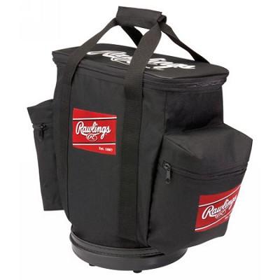 RBALLB - Baseball Bucket Ball Bag (Black)