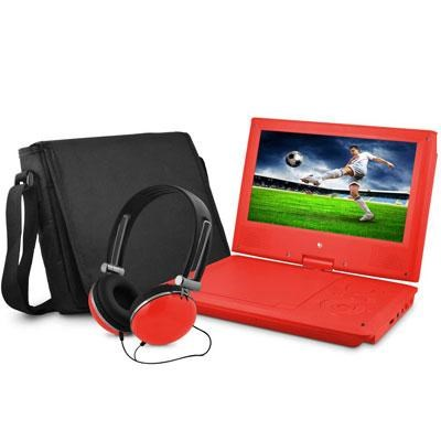 9` DVD Red Player Bundle with Matching Headphones and Bag - EPD909RD