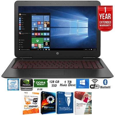 15-AX210nr OMEN 15.6` Intel i7-7700HQ Gaming Laptop+Warranty Pack