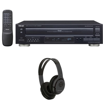 5-Disc Carousel CD Player with Remote w/ Xtreme Bluetooth Headphones