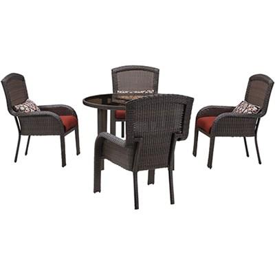 Strathmere 5-Piece Round Dining Set - STRADN5PC-RED