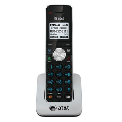 TL90071 DECT 6.0 Cordless Phone Accessory Handset, Black/Silver, 1 Handset
