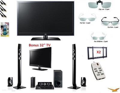 65LW6500 - 65  Inch 3D 1080P TruMotion 120Hz LED Smart TV  Bundle FREE 32` TV