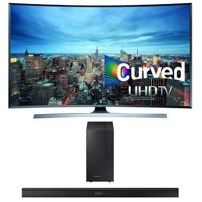 UN55JU7500 - 55-Inch 2160p 3D Curved 4K UHD Smart TV HW-J450 Soundbar Bundle