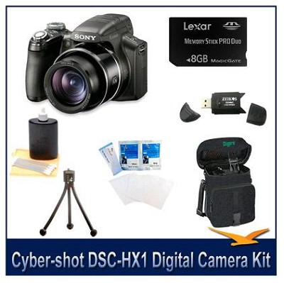Cyber-shot DSC-HX1 9.1 MP Digital Camera w/8 GB, Reader, Tripod, Case & More