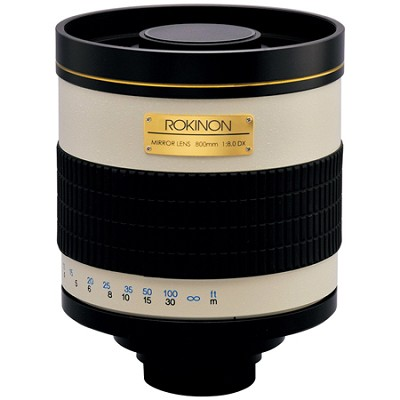800mm F8.0 Mirror Lens  (White Body) - 800M