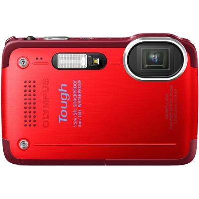 STYLUS TG-630 12MP 3-inch LCD 1080p HD Digital Camera - Red - OPEN BOX