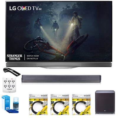 55` E7 OLED 4K HDR Smart TV OLED55E7P w/LG SJ9 Hi-Resolution Sound Bar Bundle