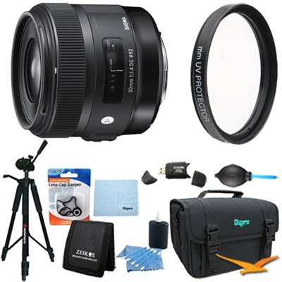 30mm f/1.4 EX DC HSM Autofocus Lens for Canon DSLR Cameras - Lens Kit Bundle