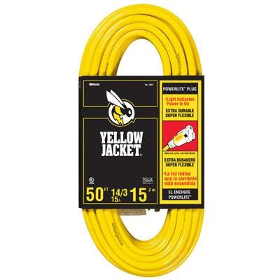 50-Feet SJTW Contractor Extension Cord with Lighted Ends - 2887