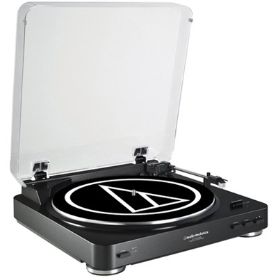 AT-LP60BK-USB Fully Automatic Belt-Drive Stereo Turntable (USB & Analog)