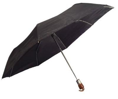 Black 42` Automatic Open/Close Wood Handle Umbrella