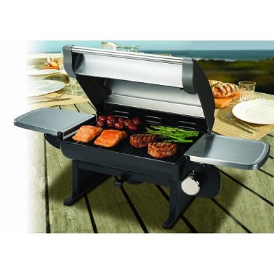 All-Foods 12,000-BTU Gourmet Stainless Steel Tabletop Gas Grill