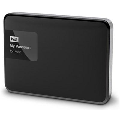 My Passport for MAC 1 TB Hard Drive, Black/Silver - OPEN BOX