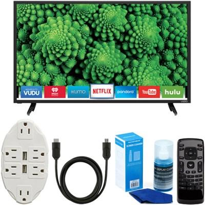 D32-D1 D-Series 32` Full Array LED Smart TV + USB Wall Outlet & Accessory Bundle