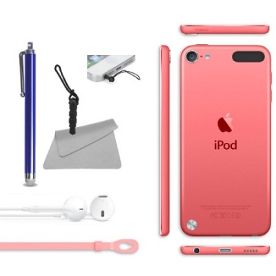 iPod Touch 16GB iOS 7 (5th Generation) Pink Bundle