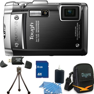 Tough TG-810 8GB Bundle - Waterproof Shockproof Freezeproof Black Camera