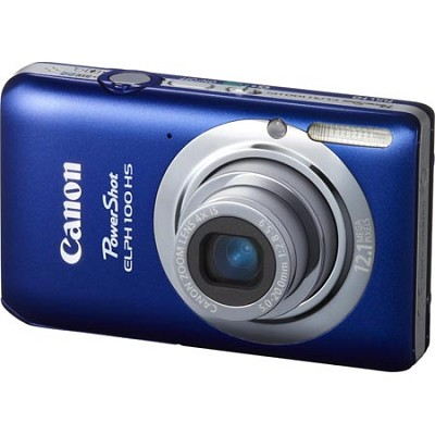 PowerShot ELPH 100 HS 12MP Blue Digital Camera w/ 4X Optical Zoom 1080p Video