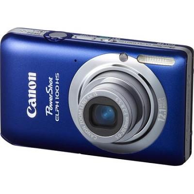 PowerShot ELPH 100 HS 12MP Blue Digital Camera w/ 4X Optical Zoom 1080p Video