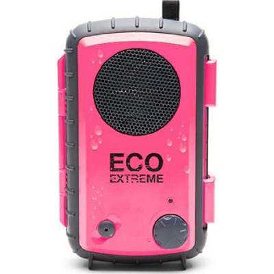 Eco Extreme 3.5mm Aux Waterproof Portable Speaker Case - Pink