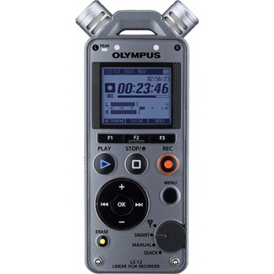 LS-12 Linear PCM Digital Voice Recorder - Factory Refurbished