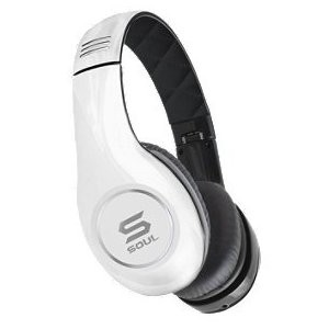 SOUL by Ludacris SL150BW High-Definition On-Ear Headphones (White/Black)