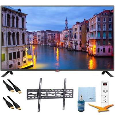 32LB560B - 32-inch 720p 60Hz LED HDTV Plus Tilt Mount & Hook-Up Bundle
