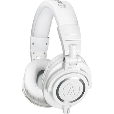 ATH-M50X Professional Studio Headphones (White)