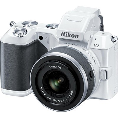 1 V2 14.2 MP HD Digital Camera with 10-100mm VR 1 NIKKOR Lens (White)
