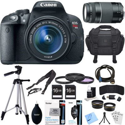 EOS Rebel T5i 18MP SLR Digital Camera + EF-S 18-55mm IS STM Lens Deluxe Bundle