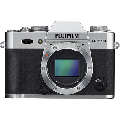 X-T10 Mirrorless 16.3MP Full HD Silver Compact System Digital Camera