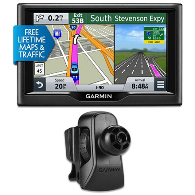 nuvi 57LMT 5` Essential Series 2015 GPS System w Maps/Traffic Vent Mount Bundle