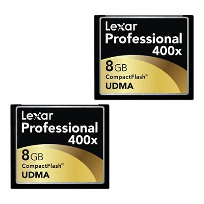 LCF8GBCTBNA4002 - Compact Flash 2-PK 8GB 400X