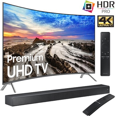 UN65MU8500FXZA 65` Curved 4K Ultra HD Smart LED TV (2017) + HW-MS750 Soundbar