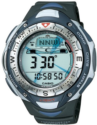 SPF40-1V Black G-Shock Pathfinder Watch w/ Solar Tiple Sensor & Resin Band