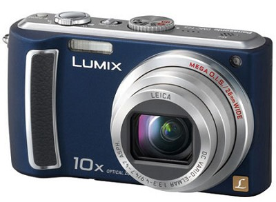 DMC-TZ5A - 9 Megapixel Digital Camera (Blue) w/ 3- inch LCD - REFURBISHED