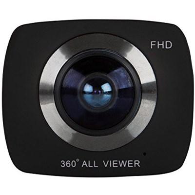 360 Action Camera DVR988-BLK Black w/ Built-in Wifi & 360 Degree Video