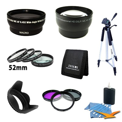 Pro Lens Accessory Kit for NIKON (D7000 D5100 D5000 D3200 D3100 D3000)