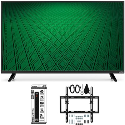 D39hn-D0 - D-Series 39-Inch Full-Array LED TV Flat + Tilt Wall Mount Bundle