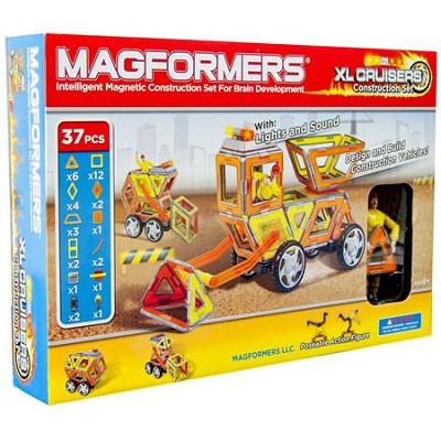 63080 XL Cruisers Magnetic Construction Vehicle 37pc Set