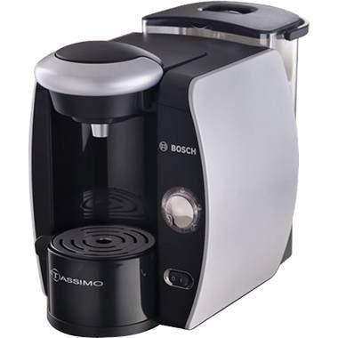 Tassimo Single-Serve Coffee Brewer - Silk Silver/Chrome Accents - New Torn Box