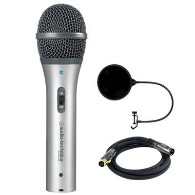 Cardioid Dynamic USB/XLR Microphone - ATR2100-USB w/ Mic. Wind Screen Bundle