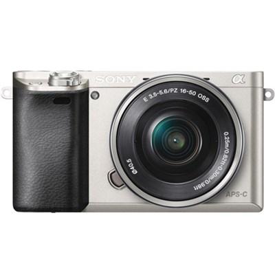 Alpha a6000 24.3MP Silvr InterCH.Lens Camera w/ 16-50mm Power Zoom - ***AS IS***